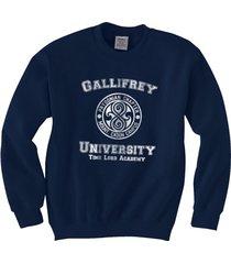 gallifrey university crewneck sweatshirt navy blue size s to 3xl