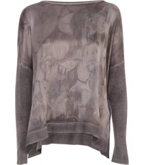 avant toi oversized boat neck sweater w/ silk slits