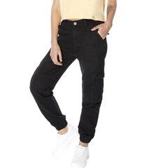 jeans jogger cargo negro corona