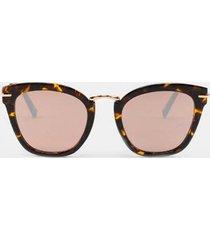 alexis leopard cat eye sunglasses - leopard