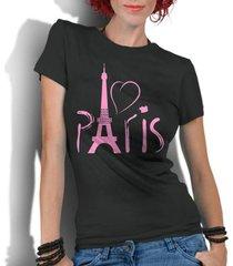 camiseta criativa urbana love paris frança - feminino