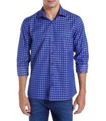camisa dudalina manga longa fio tinto maquinetada masculina (azul medio, 6)