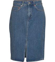 reem denim 1&2 hw pencil skirt rok knielengte blauw french connection