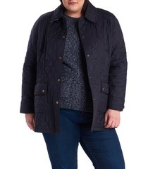 plus size women's barbour beadnell summer quilted jacket, size 3x - blue