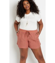 maurices plus size womens rust weekender 5in shorts brown