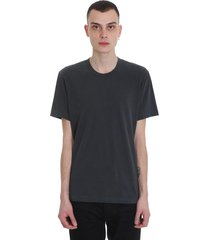 james perse t-shirt in grey cotton