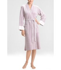 natori nirvana brushed terry sleep & lounge bath wrap robe, women's, size l natori