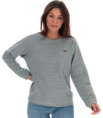 womens relaxed crew neck sweatshirt