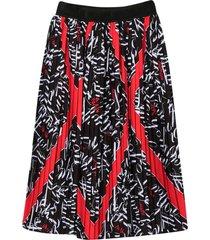 msgm black pleated skirt teen