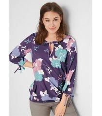 gedessineerde blouse van viscose