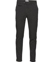 como pinstripe suit pants kostuumbroek formele broek zwart les deux