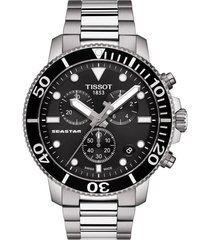 men's tissot seastar 1000 chronograph bracelet watch, 45.5mm