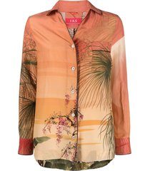 f.r.s for restless sleepers floral print shirt - red