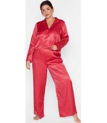 lookin' spicy plus satin pajama set