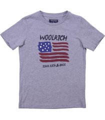 woolrich marled grey cotton jersey t-shirt