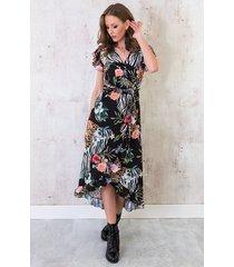 bloemen midi jungle jurk