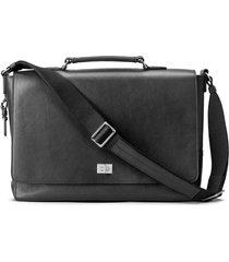 men's shinola leather messenger bag - black