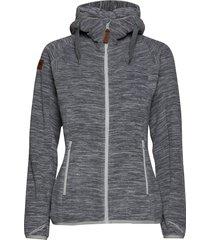 hareid fleece w jkt hoodie trui grijs bergans