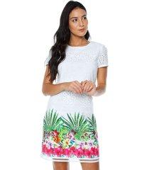 vestido   blanco desigual