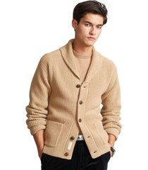 polo ralph lauren men's wool-cashmere shawl cardigan