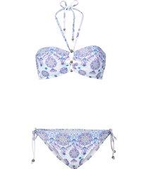 bikini a fascia (bianco) - rainbow