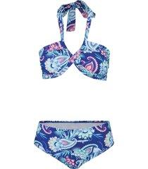 bikini a fascia (set 2 pezzi) (blu) - bpc bonprix collection
