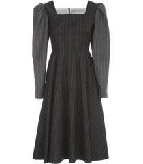 ballon sleeves bicolour dress