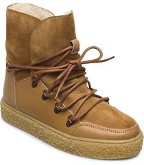 lola wool shoes boots ankle boots ankle boot - flat beige pavement
