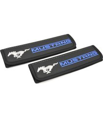 mustang seat belt covers leather shoulder pads interior accessories with emblem