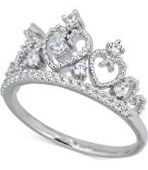 diamond heart tiara ring (1/4 ct. t.w.) in 14k white gold
