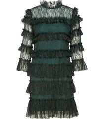 carmine mini dress kort klänning grön by malina