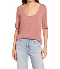 women's splendid irvine t-shirt, size large - pink