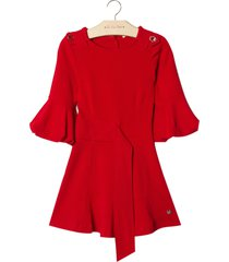 vestido le lis petit nathy vermelho feminino (paprika, 9)