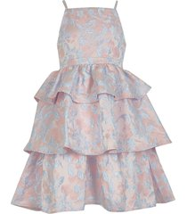 river island girls chi chi tiered jacquard dress