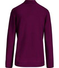trui met staande kraag, model gudrun van peter hahn paars