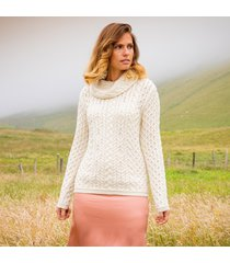 the doonbeg cream aran sweater medium