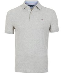 polera polo core m stretch slim fit gris tommy hilfiger