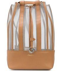 3.1 phillip lim billie mesh drawstring backpack - neutrals
