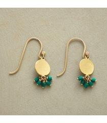 malachite falls earrings