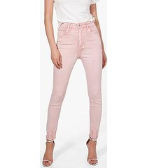 sofia high rise distressed hem skinny jeans