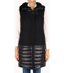 fay quilted vest black