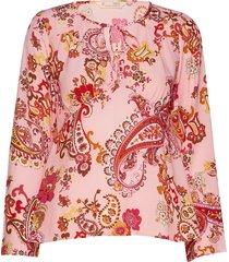 knock-off blouse blouse lange mouwen roze odd molly