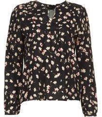 blouse met bloemenprint koy  zwart