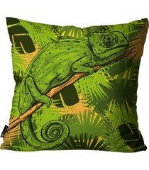 almofada mdecore camaleã£o verde 45x45cm - verde - dafiti
