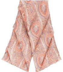 etro paisley-print padded scarf - orange