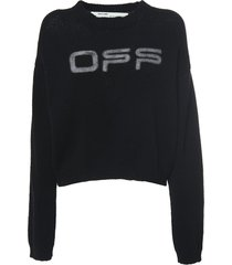 off logo knit sweater