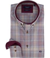giordano shirt bordeaux geruit regular fit