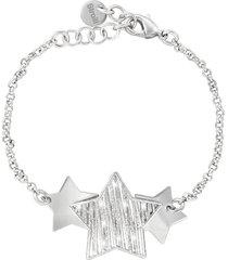 bracciale stelle in ottone rodiato e glitter per donna