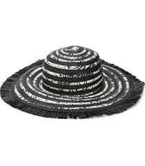 etro flora-print woven sun hat - black