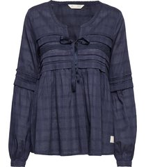 ready to go blouse blouse lange mouwen blauw odd molly